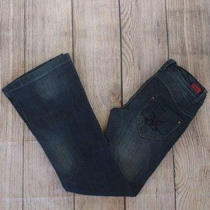 SOLD Vigoss Jeans Embroidered Detail Flare Leg 5/6
